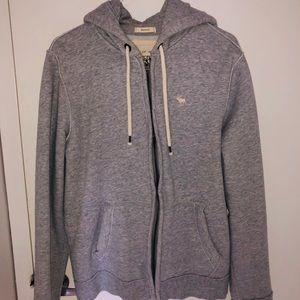 Full-Zip Gray Icon Hoodie